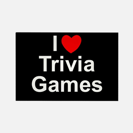 Trivia Games Rectangle Magnet