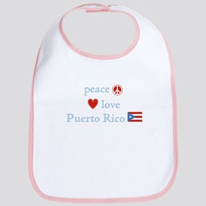 Peace, Love and Puerto Rico Bib