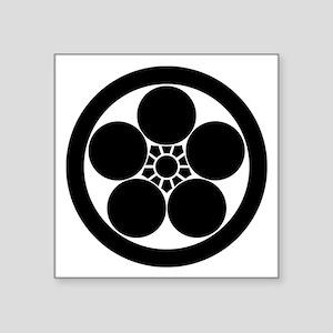 "maru ni umebachi Square Sticker 3"" x 3"""