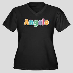 Angelo Women's Plus Size V-Neck Dark T-Shirt