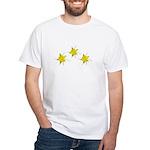 Yellow Columbine White T-Shirt