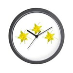 Yellow Columbine Wall Clock