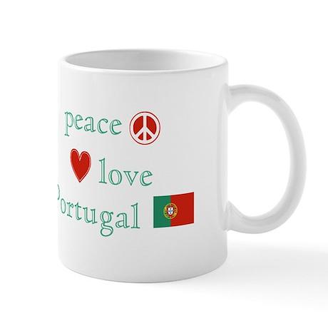Peace, Love and Portugal Mug