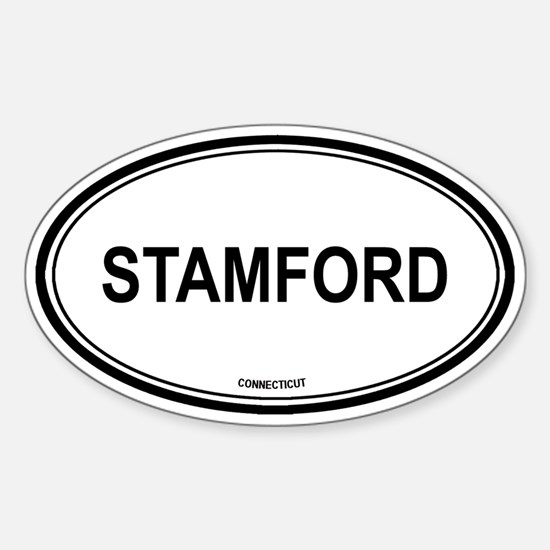 Stamford (Connecticut) Oval Decal