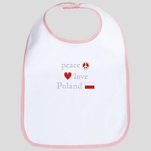 Peace, Love and Poland Bib