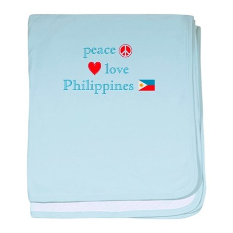 Peace, Love and Philippines baby blanket