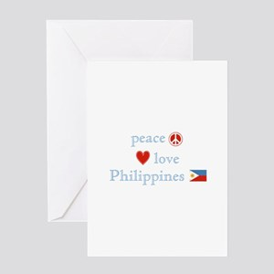 Peace, Love and Philippines Greeting Card