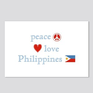 Peace, Love and Philippines Postcards (Package of