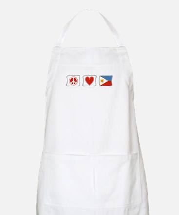 Peace, Love and Philippines Apron