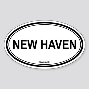 New Haven (Connecticut) Oval Sticker