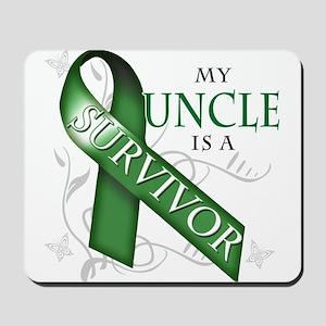My Uncle is a Survivor (green) Mousepad