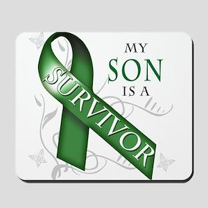 My Son is a Survivor (green) Mousepad