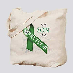 My Son is a Survivor (green) Tote Bag