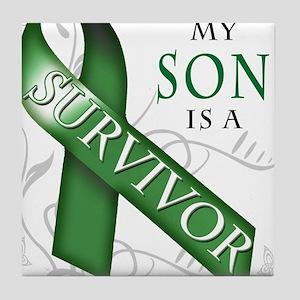 My Son is a Survivor (green) Tile Coaster