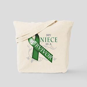 My Niece is a Survivor (green) Tote Bag