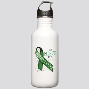 My Niece is a Survivor (green) Stainless Water