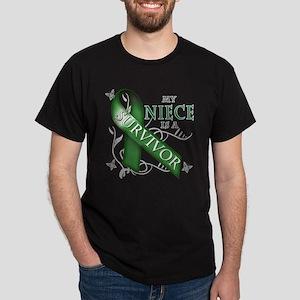 My Niece is a Survivor (green) Dark T-Shirt