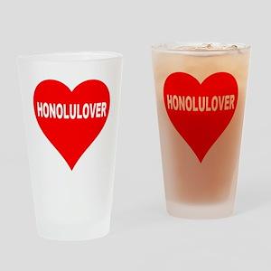 HONOLULOVER Drinking Glass