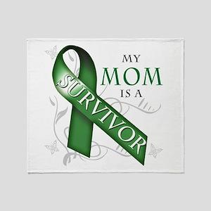 My Mom is a Survivor (green) Throw Blanket