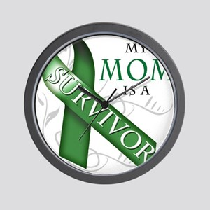 My Mom is a Survivor (green) Wall Clock