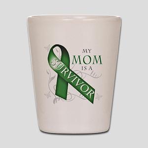 My Mom is a Survivor (green) Shot Glass