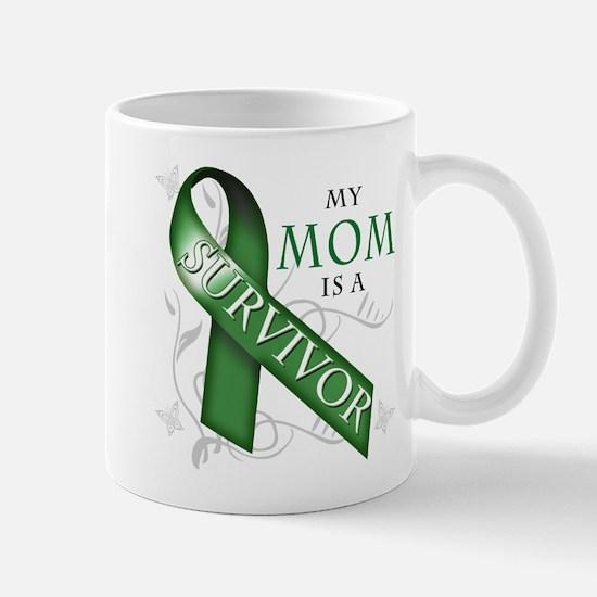 My Mom is a Survivor (green).png Mug