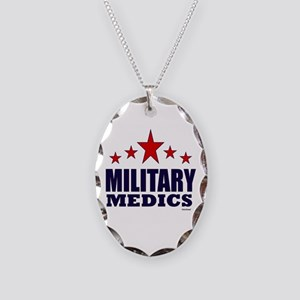 Military Medics Necklace Oval Charm