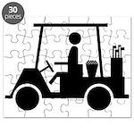 Golf Cart Icon Puzzle