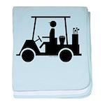 Golf Cart Icon baby blanket