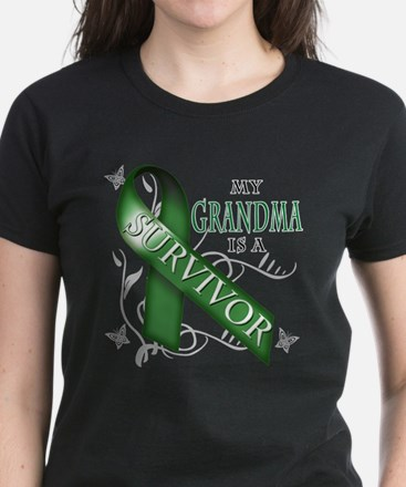 My Grandma is a Survivor (green).png Women's Dark