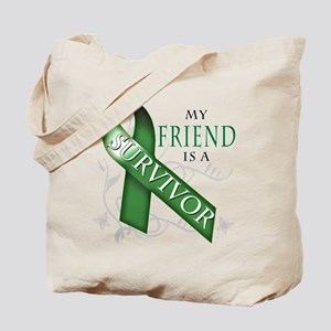 My Friend is a Survivor (green).png Tote Bag