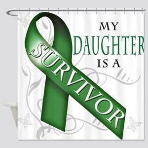 My Daughter is a Survivor (green) Shower Curta