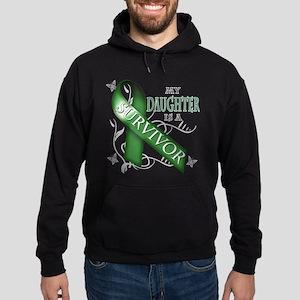 My Daughter is a Survivor (green) Hoodie (dark