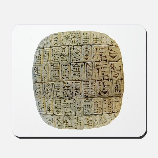 Anglomorphic Cuneiform Mousepad