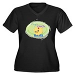 Yoga Chick Women's Plus Size V-Neck Dark T-Shirt