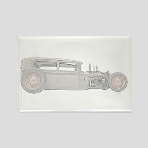 1930 Ford Rat Rod Rectangle Magnet