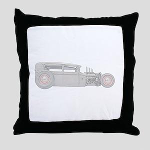 1930 Ford Rat Rod Throw Pillow