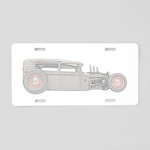 1930 Ford Rat Rod Aluminum License Plate