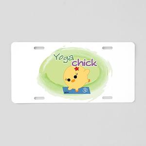 Yoga Chick Aluminum License Plate
