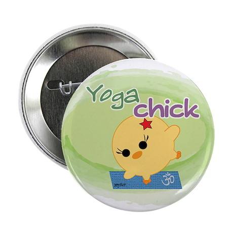 "Yoga Chick 2.25"" Button"