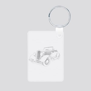1932 Ford Convertible Aluminum Photo Keychain