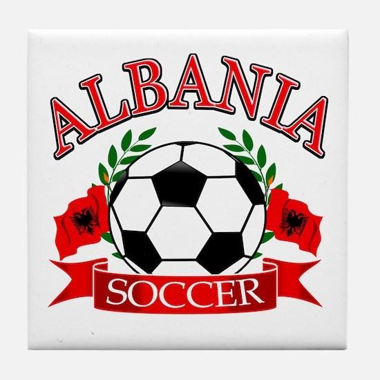 Albania Soccer Designs Tile Coaster