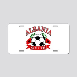 Albania Soccer Designs Aluminum License Plate