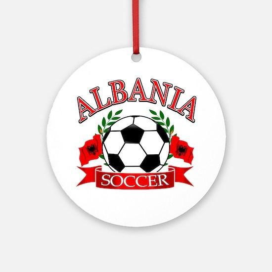 Albania Soccer Designs Ornament (Round)