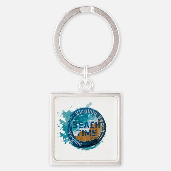 Funny Virginia beach Square Keychain