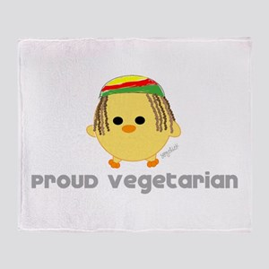 proudrastaveggie Throw Blanket