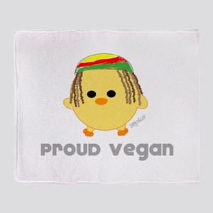 rasta chick Throw Blanket
