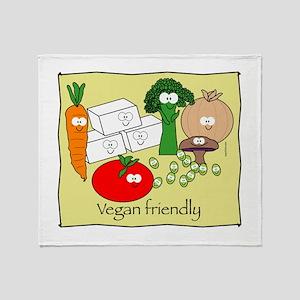 mushroom_veganfriendlybl Throw Blanket