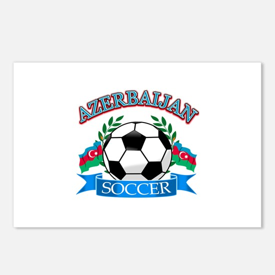 Azerbaijan Soccer Designs Postcards (Package of 8)