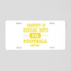 Property of Jamaica Soccer Aluminum License Plate